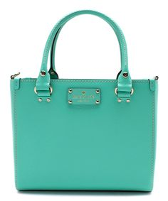 Look at this Kate Spade Giverny Blue Wellesley Quinn Leather Crossbody Bag on #zulily today!