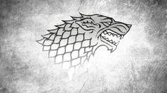 Game Of Thrones: Casa Stark House Stark, Casa Stark, Winter Is Coming Stark, The Winds Of Winter, Winter Is Coming Wallpaper, Maison Stark, Game Of Thrones Wolves, Stark Sigil, Tatoo