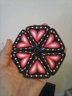 Polymer Complex Cane-Hearts by Theresa Pandora Salgado