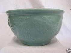 Vintage American Pottery McCoy R R Bowl Sailing SHIP North Wind Free Shipping | eBay