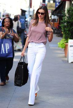 Look pour travailler Miranda Kerr #magnifique