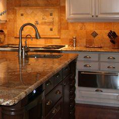 I like the granite countertops and the back slash.