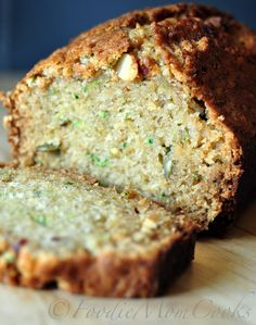 zucchini bread - delicious!  Used a peach instead of an apple and no nutmeg