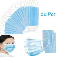 Custom-fit nosepiece adjusts to the contours of your face to provide an enjoyable fit. - Fully tested - Nuisance masks are perfect for protecting against flu, viruses, dust etc. - Elasticated head strap for a universal tight fit around the mouth and nose. Blister Packaging, Medical Dental, Blue Mask, Mouth Mask, Color Card, Masks, Face, Ebay, Travel Accessories