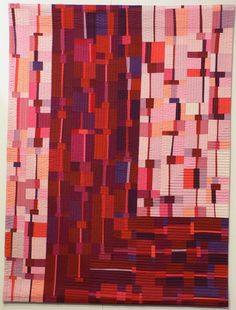 Kathy Loomis' tutorial on 3-strip piecing compositions, à la Nancy Crow. We'll have to try this.