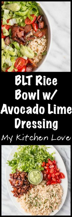 BLT Rice Bowl. A gf