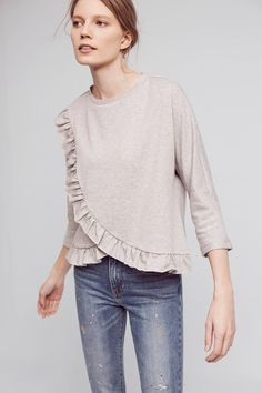 Ruffled Terry Top