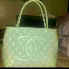 Authentic chanel vintage medallion mint TRADES Discontinued color mint green do you know the value goes up plus this purse is mint inside and out comes with dust bag. Ill add serial no these photos are bags that I have on my phone. So if your interested I'll provide more photos. CHANEL Bags