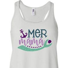 MerMama Tank Top, Mommy & Me Shirts, Matching Shirts, Mermaid Mom, Mermaid Party, Little Mermaid, Mom of the Birthday Girl, Glitter, Mermaid by CocoCallies on Etsy https://www.etsy.com/listing/522578769/mermama-tank-top-mommy-me-shirts