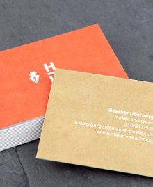 Preview image of Business Card design 'Monogram'  Fabulous business cards for the self-starter!