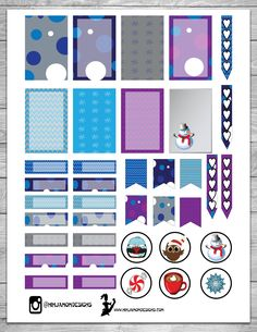 Free Winter Fun Planner Stickers