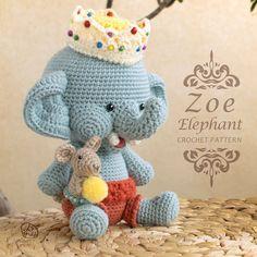Crochet Pattern / Zoe Elephant doll / MoRA made by MoRAmadePattern
