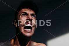 Young angry man expressing negative emotion ~ Hi Res Photography Backdrop Stand, Negative Emotions, Model Release, Clip Art, Stock Photos, Guys, Business, Store, Sons