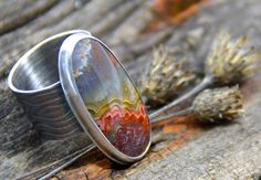 Sterling Silver Crazy Lace Ring Handmade Wild Prairie by joykruse, $200.00