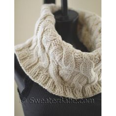 Cowls are an easy and stylish alternative to scarves this season!This one features a wonderfully easy double cable pattern to add lots of textural interest.It knits up quickly in the round (no seams!) and can be worn like a folded-over turtleneck or scrunched down for a cool, slouchy look.A great quick gift knit using less than 3 hanks of Cadena yarn from Knit Picks!The cable pattern really is easy, despite how it looks. . . great for the knitter wanting to try out cables for the first…