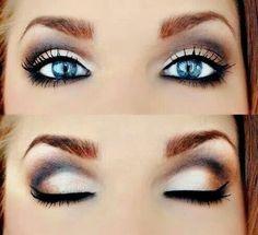 Smoky eyes.