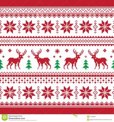 30 Beautiful Picture of Knitting Pattern Christmas . Knitting Pattern Christmas Christmas And Winter Knitted Seamless Pattern Or C Stock Nordic Pattern, Red Pattern, Scandinavian Pattern, Scandinavian Style, Card Patterns, Knit Patterns, Cross Stitch Patterns, Red Wall Art, Christmas Knitting Patterns