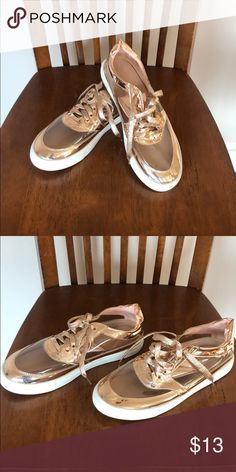 Rose gold shoes Excellent condition Liliana Shoes Rose Gold Shoes, Miller Sandal
