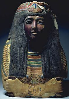 The Mask of Ka-nefer-nefer, at  the St. Louis Museum of Art (St. Louis Museum of Art) The funerary mask of Kanefernefer (St. Louis Art Museum) New Kingdom, Dynasty 19, ca. 1295-1186 BC