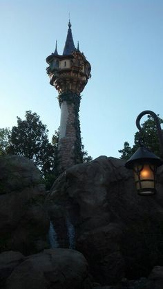 Rapunzel's tower in the Magic Kingdom!