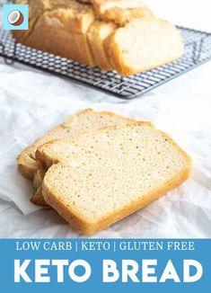 Keto Bread Finding it hard to give up carbohydrates? This keto bread makes the switch much easier, easily being able to still have sandwiches and toast. via FatForWeightLoss 90 Second Keto Bread Second Keto Bread In ASavory Keto Bread Low Carb Bread, Low Carb Keto, Low Carb Recipes, Healthy Recipes, Bread Recipes, Best Keto Bread, Paleo Bread, Bacon Recipes, Healthy Nutrition
