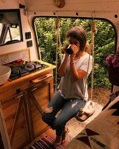 Gefällt Mal, 36 Kommentare – Camper van tours ( auf Ins… – camping Airstream Interior, Campervan Interior, Volkswagen Bus Interior, Kombi Trailer, Kangoo Camper, T3 Vw, Kombi Home, Bus Living, Living Room
