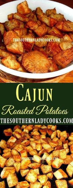 Cajun Oven Roasted Potatoes go with any meal as an easy side dish. Serve these Cajun potatoes with beef or chicken or eat with