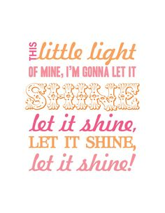 shine sunshine!