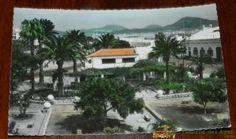 ANTIGUA FOTO POSTAL DE PUERTO DE LA LUZ, LAS PALMAS, N. 129, JARDINES Y CASA DE TURISMO