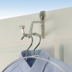 "Spectrum Diversified 70778 Duchess Over The Door Hanger Holder, Satin Nickel by Spectrum. $12.74. Spectrum Diversified 70778 Duchess Over The Door Hanger Holder, Satin NickelSpectrum Diversified 70778 Duchess Over The Door Hanger Holder, Satin Nickel Features:; Fits over door; Satin Nickel; Fits doors up to 1-3/8"" thick; 5-1/8"" x 1-3/16"" x 1-3/8""; Carded"