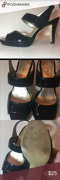 Anne Klein Black High Heel Sandals Perfect to match and summer outfit! Only worn once (see photos). Anne Klein Shoes Sandals