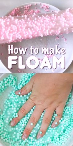 Slime Recipe How to make Floam slime that's super stretchy and light as air!How to make Floam slime that's super stretchy and light as air! Diy Crafts Slime, Slime Craft, Fun Diy Crafts, Diy Slime, Fun Crafts For Kids, Diy For Kids, Diy Floam, Edible Crafts, Kids Fun