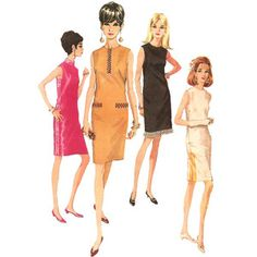 1960s Womens Mod Sheath Dress - McCall's 9029 Vintage Sewing Pattern - 32 Bust