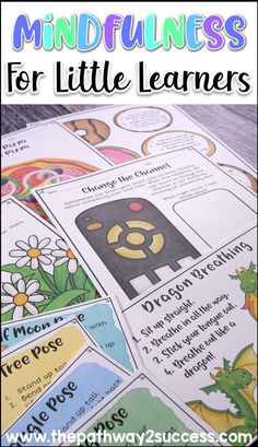 Teach mindfulness strategies to younger learners to help them manage their emotions. Some mindfulness techniques include dragon breathing, yoga, mindful coloring, change the channel, and much more. Social Skills Activities, Classroom Activities, Nursery Activities, Classroom Ideas, Anger Management For Kids, Classroom Management, Behavior Management, Anxiety Self Help, Mindfulness For Kids