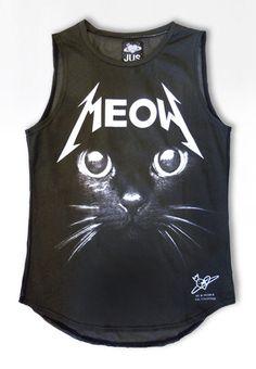 Débardeur femme noir imprimer chat noir chat tshirt par PLASTICJUS