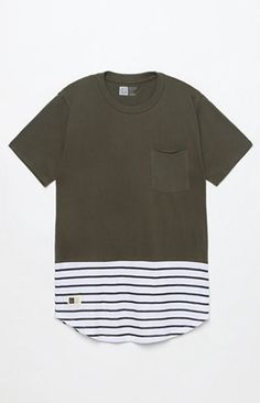 Parallel Pocket Scallop T-Shirt