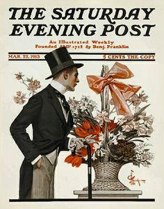 Sat Eve Post Cover Illustration   Mar 22 1913  -  JC Leyendecker
