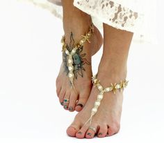 9df4015a5d39 Barefoot Jewelry with Natural Starfish