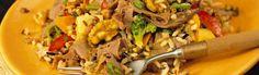 426 Beef Salad on the Wild Side Beef Salad, Beef Recipes, Asparagus, Vegetables, Food, Meat Recipes, Steak Salad, Meal, Veggies