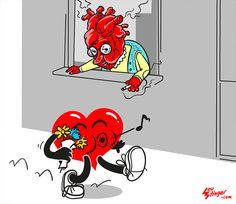 Lou Stinger |   #Cartoon #youngl #love #heart