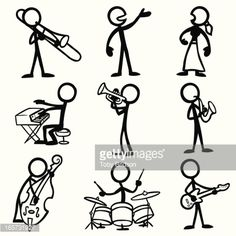 stick figure playing drums - Google pretraživanje