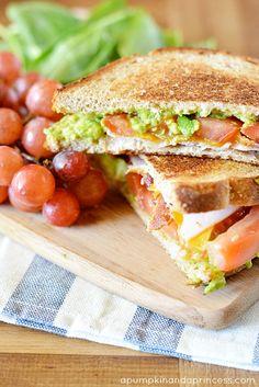Grilled Avocado Bacon Turkey Sandwich