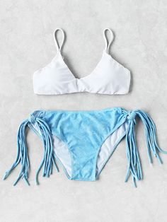 Shop Strappy Tie Side Mixed And Match Bikini Set online. SheIn offers Strappy Tie Side Mixed And Match Bikini Set & more to fit your fashionable needs.