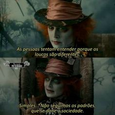 Fato, não é ? Series Movies, Movies And Tv Shows, Sad Girl, Johnny Depp, Bts Memes, Alice In Wonderland, Thoughts, Humor, Feelings