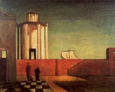 Environmental Structure-Giorgio de Chirico, The Enigma of the Arrival and the Afternoon, 1912, Oil on canvas, 86.5 x 70 cm http://www.wikiart.org/