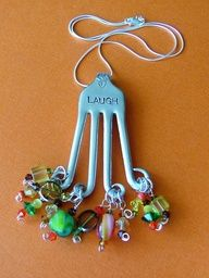 Jewelry Made Out Of Silverware | How to make jewelry made from silverware
