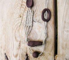 Hemp Boho Necklace Multistrand Beaded Necklace by totalhandmadeD