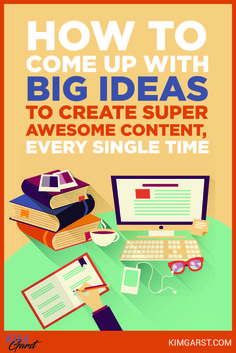 How To Come Up With BIG Ideas To Create Super Awesome Content Every Single Time via @KimGarst Content Marketing, Social Media Marketing, Digital Marketing, Seo Sem, Social Media Site, Learning, Create, Big, Awesome