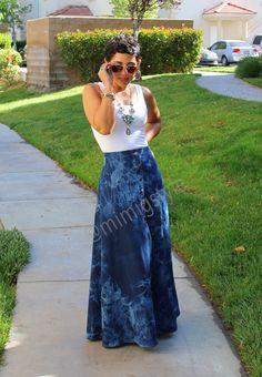 mimi g.: Casual Monday: #DIY Tie Dye Maxi Skirt + Tank