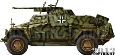 The Sd Kfz 221, 222 and 223 were three versions based on the same 1936 design of four wheel drive scout armoured vehicle for the Aufsklärung companies (reco)